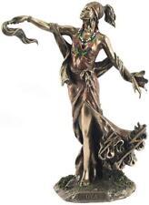 More details for bronze effect orisha goddess of wind oya statue african style sculpture santeria
