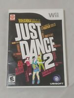 Just Dance 2 (Nintendo Wii, 2010) Complete Case Game Disc Manual EUC