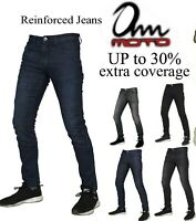 Mens motorcycle Slim Tapered Aramid jeans motorbike Trouser free CE Armour*Sale