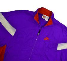 Nike 90's vtg Windbreaker Jacket Med Purple Red Windrunner Nylon Grey Tag Bungee