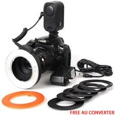 New Speedlite Ring Flash Light LED Macro Lamp For DSLR Canon Nikon Camera