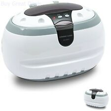 Professional Ultrasonic Jewelry Cleaner Eyeglass Cleaner Cleaning Machine White