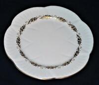 "Shelley Fine Bone China ACANTHUS (Dainty Shape), Gold Leaves Salad Plate, 8"""