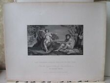 Vintage Print,PAN INSTRUCTING APOLLO,Caracai,National Gallery,1832
