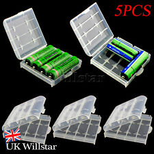 5pcs AA AAA Battery Cases - Safe Storage Holder Rechargeable Batteries Hard Box