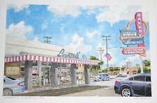 "Original Hawaii Watercolor Painting ""Leonard's Bakery Kapahulu"" by L Segedin #14"