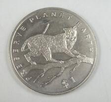 New listing Liberia Commemorative Coin $1 Almost Unc, Preserve Planet Earth, Leopard
