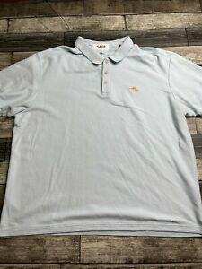 Tommy Bahama Polo Shirt Adult XXXL 3XL Blue Marlin Supima Rugby Mens A60*