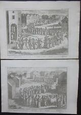 1727 JAWA CEREMONIE NUPTIALE wedding ceremony 2 etching matrimonio Indonesia