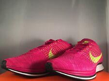 Nike Flyknit Racer fuego Berry voltios Rosa Flash Reino Unido 8