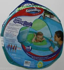 SwimWays Step 1 Baby Light Blue & Green Spring Float Sun Canopy 9-24 Months NIP
