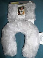 Blankets & Beyond-Baby-Toddler- Soft Travel Pillow & Seat Belt Covers-Light Grey