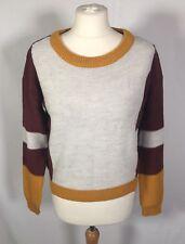 Blend She Colour Block Multicoloured Jumper Sweater Knitwear Wool Mix (S) 12/14