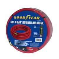 """Goodyear 50 x 3/8"""" Rubber Air Hose 250 PSI Air Compressor Hose USA Made 12674"""