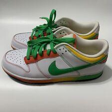 Nike Dunk Low 6.0 Rasta 314142-131 White Green Orange Yellow Mens US 11 UK 10