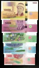 Full Set Comores Comoros 500 1000 2000 5000 10000 Francs 2005 2006 UNC