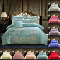 Duvet Cover Bedding Set + Pillow Case & Flat Sheet Double King Size Quilt Covers
