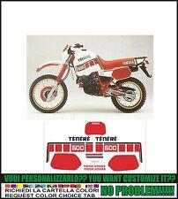 kit adesivi stickers compatibili xt 600 z tenere 1vj 1987