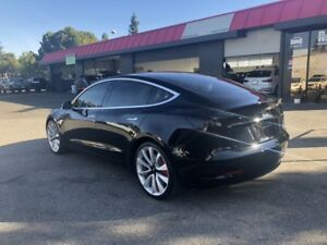 BlingLights Smoked Tail Light Overlays Lamp Film Covers for Tesla Model 3 & Y