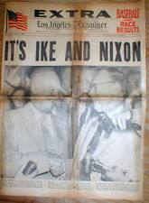 BEST 1952 display newspaper Republicans nominate EISENHOWER & NIXON President&VP