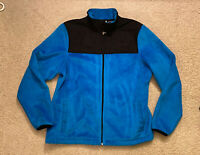 FILA SPORT Biella Performance Full Zip Fleece Jacket, Blue & Black Women's LARGE