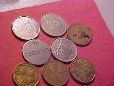 EIGHT( 8 ) DIFFERENT MISC. TOKENS