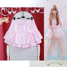 Girl Lolita Princess Skirt Kawaii Sweet Stripe Bind Bowknot Render skirt Gift
