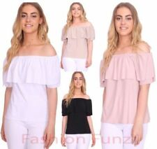 Short Sleeve Classic Tops & Shirts for Women with Ruffle