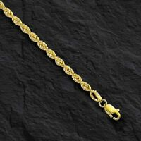 "14k SOLID Yellow Gold ROPE Pendant link Chain/Necklace 24"" 4mm 32 grams (SR030)"