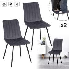 2er Esszimmerstuhl Küchenstühle Wohnzimmerstuhl Gepolstert Stuhl aus Samt Modern