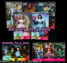 Wizard of Oz Barbie Doll Glinda Dorothy Kelly Lion Scarecrow Tinman Munchkins 12