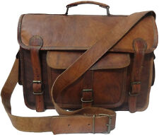 Vintage Handmade Genuine Leather Briefcase Laptop Lens Nikon DSLR Camera Bag G38