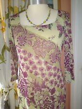 Kaliko Cranberry & Pale Green Pencil Dress (10)