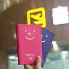for Couple 2pcs/set Smile Aniti Skimming Passport Holder Cover Travel Wallet