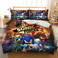 HD 2/3Pieces Duvet Cover Set All Size Bedding Set Sonic The Hedgehog Anime US