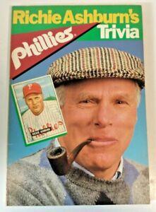 Richie Ashburn's Phillies Trivia - 1983 - Signed - Running Press Trade Paperback