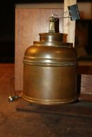 Antique Rumidor Copper Humidor New York Cat Figure