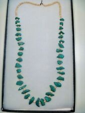Nugget Clamshell Moquino Necklace Vintage Santo Domingo Turquoise