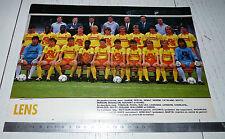 CLIPPING POSTER FOOTBALL 1987-1988 RC LENS RCL BOLLAERT SANG & OR