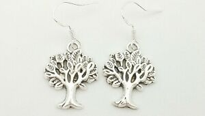 New Tree Of Life Shaped Charm Drop/Dangle Earrings Kitsch Novelty Retro
