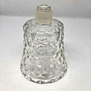 Mid-Century Glass Peg Votive Candle Sconce Scalloped Clear with Plastic Cover