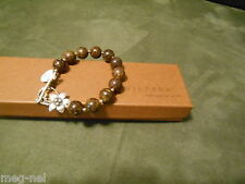 Silpada Jewelry ~ Bronzite & Sterling Silver Bracelet  B1365 Flower  Box Retired