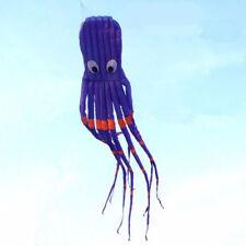 3D 26ft 8m Single Line Purple Octopus POWER Sport huge soft Kite Outdoor Toy