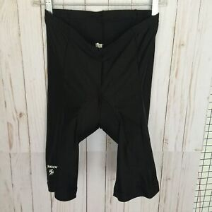 SUGOI Black Nylon Spandex Cycling Bicycle Bike Riding Padded Shorts Sz XL