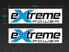 2 X Extreme Power stickers/decals bleu & noir sur un fond blanc-EURO DUB