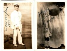 1928, Jean Lussier, Daredevil, Niagra Falls, pair of hand signed post cards