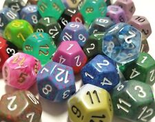 (50) Chessex D12 Random Color Polyhedral Dice Set, 12 Sided Lot Gaming D&D RPG