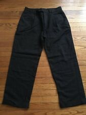 Nautica Rigger Men's Charcoal Gray Pleated Front Wool Blend Dress Pant 34 x 30