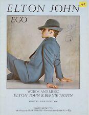 Ego - Elton John - 1978 Sheet Music