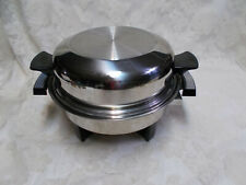 """11"""" West Bend Webalco Electric Skillet Oil Core Dome Lid-USA Immersible 1/884"""